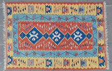 43 x 65 inch Hand-Made Vintage Turkish Kilim Rug Flat Weave Area Rug OUSHAK RUG