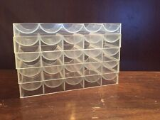 Lot Of Five Clear Poker Chip Trays Texas Hold'Em Casino Cards Hold Em