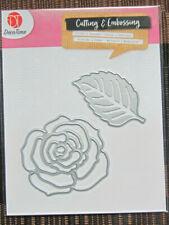 Cutting & Embossing -- Rose, Blatt -- Stanz- / Schneideschablone