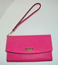 Kate Spade Laurel Way Leather Iphone 6/6s/7/8/X Wristlet/Wallet Hot Pink