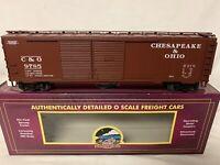 ✅MTH PREMIER CHESAPEAKE OHIO 50' DOUBLE DOOR BOX CAR 20-20612! O SCALE TRAIN C&O