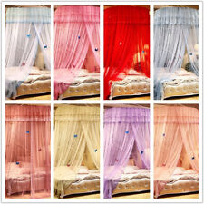 Round Mosquito Net Canopy Fly Insect Protect Netting For Single Double King Size