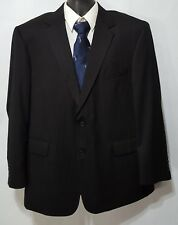 STAFFORD Signature (46R) Men's Charcoal Gray Pinstripe WOOL 2 Btn Blazer Jacket