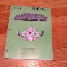 Hurricane Pinball Machine Game Operations Manual Wpc Schematics, Williams 1991