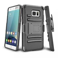 SAMSUNG GALAXY NOTE 7 FE - ARMOR CASE COMBO BELT CLIP HOLSTER COVER KICKSTAND