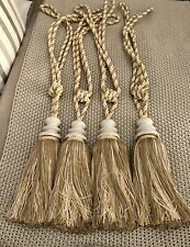 Laura Ashley X 4 Used Large Curtain Tie back Tassels   RRP For Set £ 120