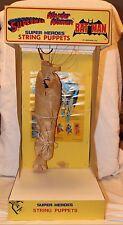 Vintage Superman String Puppet Store Display - Superheroes Puppet Demonstrator