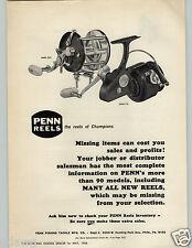 1966 PAPER AD Penn Fishing Reels Model 209 710