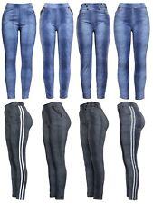 New Ladies Womens Denim Jeans Look Casual Style Leggings Jeggings Trouser