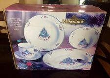 The Salem China co. Whimsical Christmas 20 Pc Dinnerware Dish Set New In Box