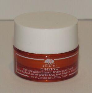 Origins GinZing Refreshing Eye Cream 0.17 Oz 5 mL Jar To Brighten & Depuff NWOB