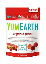 YumEarth Organic Lollipops, Assorted Flavors, 50 Lollipops Pack of 1