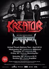 "KREATOR / DEATH ANGEL ""UNITED THRASH NATIONS TOUR 2014"" AUSTRALIA CONCERT POSTER"