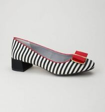 Standard Width (D) Casual Striped Textile Heels for Women