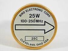 Bird 25C 100-250MHz 25W Slug Element for Model 43 Wattmeter (accurate)