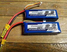 2x Turnigy 2200mAh 3S 25C 35C Lipo Battery Pack E-Flite Blade 450 E325  XT60