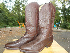 1990's Brown Leather Western Style Boots by Nocoma Men's Size 10 1/2 D (used)