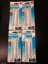 4-double Packs Philips 500W T3 Rsc 130-Volt Light Bulbs Bc500T3Q/Cl/Tp 4-5/8�