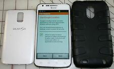 AT&T SAMSUNG GALAXY S II 16GB SMARTPHONE SGH-1727, WHITE w/ CASE, SCREEN PROTECT
