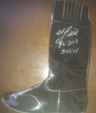 Jockey racing Boot  Justify signed triple crown champion Mike Smith autograph