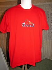 Golf 3 Mens Red Tee-Shirt Rio Brasil Short Sleeves Size Large Casual Graphic