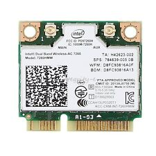 For HP Intel Dual Band AC PCI-E 7260 7260HMW 802.11ac/abgn 2x2 Wi-Fi BT 867Mbps