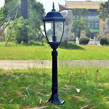 Vintage Outdoor Lighting Garden Lantern Path Glass Lawn light Black Lamp Post