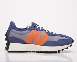 New Balance 327 Women's Magnetic Blue Varsity Orange Lifestyle Sneakers Shoes