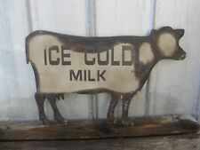 Large Dairy Milk COW Metal Wall SIGN Primitive Farmhouse French Country Decor