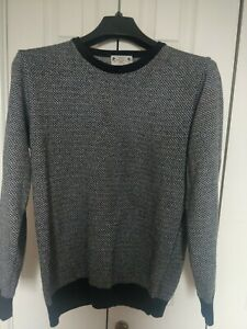 Men's Navy And White Italian Jumper Made By Next size M