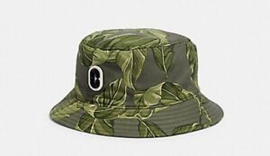 Coach Multi Green Printed Bucket Hat