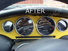 Para Fiat Coupe 20V Turbo Dial De Cromo & Calentador Anillos rodea Conjunto Real De Aluminio