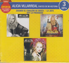 CD - Alicia Villarreal Partes De Mi Historia NEW 3 CD's Oferta FAST SHIPPING !