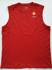 Asics Favorite Sleeveless Shirt - Red - Large - (Retail $40) UPF / UV Protection