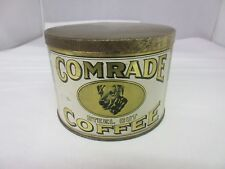 VINTAGE  COMRADE COFFEE WITH ORIGINAL LID  ADVERTISING COLLECTIBLE 212-Z