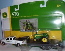 1/64 Ertl John Deere 530 With Ford F350 and Trailer