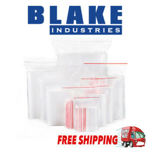 Resealable Zip Lock Clear Plastic Bags Many Sizes FREE SHIPPING