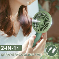 Portable Hand Held Cooling Mini Fan USB Water Spray Humidifier Rechargeable