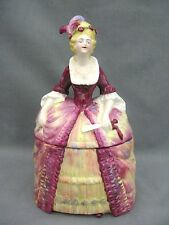 Un superbe Crinoline Lady Biscuit Baril/cookie jar/Powder Bowl - 1930 S