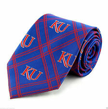 Kansas Jayhawks Diamond Mens Necktie University College Logo Blue Neck Tie New