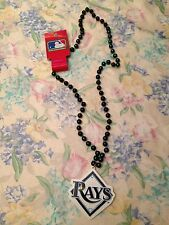 MLB Tampa Bay Rays Logo Bead Necklace RARE Metallic Green 2008 World Series