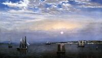 Huge oil painting Great Seascape with Sail boats in sunset canvas 36""
