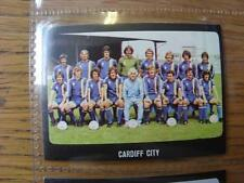 1979/1980 Football Sticker 79/80: 313) Cardiff City - Team Group  - 2nd Division