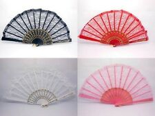 10 Chinese Silk Folding Fans Wedding Favor Mixed
