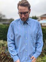 Men's GANT L Blue Colourful Stripe Shirt Men's Washer Oxford Regular Fit