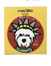 "**NWT** Marc Tetro NYC Liberty ""Love My Westie"" Terrier Red Magnet 3"" Round"
