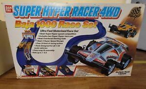 Vintage BanDai Super Hyper Racing 4WD Baja 1000 Race Set w/ Cars Fast Shipping!!