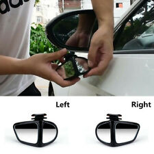 2pc Convex Rear View Blind Spot Mirror 360° Rotation Lens Adjustable Fit For Car