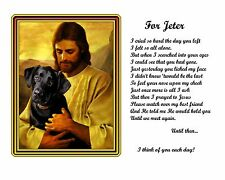 Black Lab Memorial Picture-with Jesus and Poem Personalized w/your Pet's Name 2