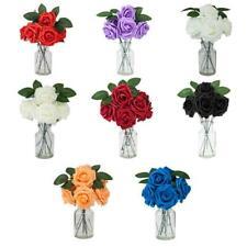 50pcs Pe Foam Artificial Flower Rose Bouquet Floral Wedding Party Home Decor